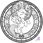 Stained Glass: Rainbow Dash -line art-