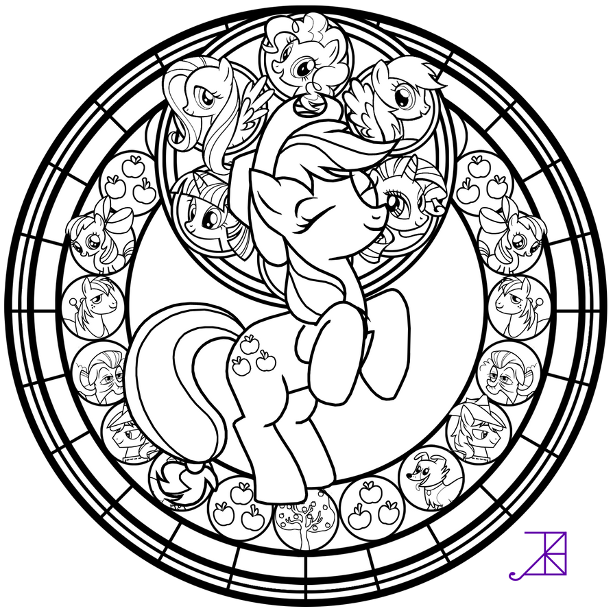 stained glass applejack line art by akili amethyst on deviantart