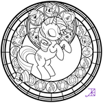Stained Glass: Rarity -line art-