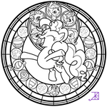 Stained Glass: Pinkie Pie -better line art-