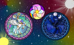 Celestial Ponies and Elements Wallpaper