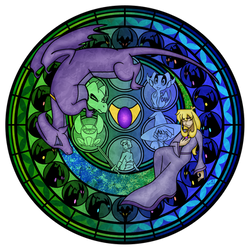 Commmission: Stained Glass: Reversal of the Heart