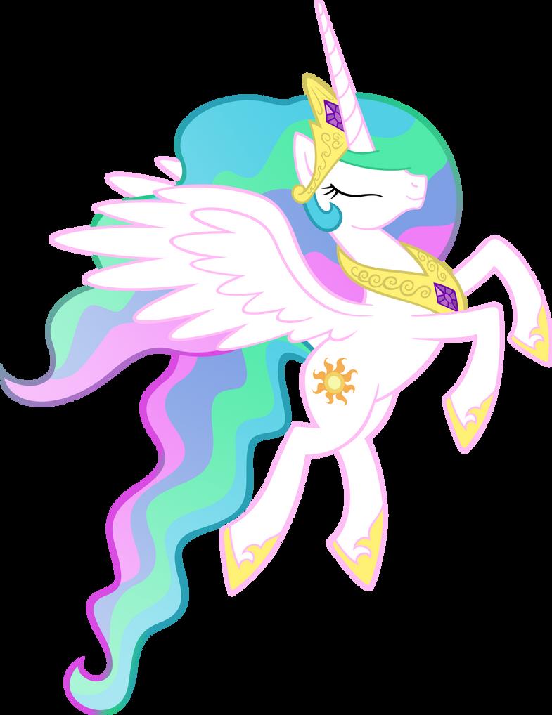 Princess Celestia in Flight by Akili-Amethyst