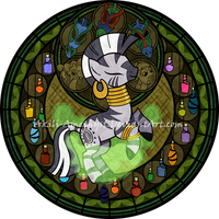 Stained Glass: Zecora by Akili-Amethyst