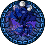 Stained Glass: Princess Luna S2 -5400px-