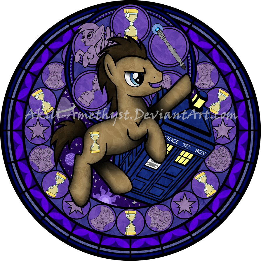 Stained Glass: Doctor Hooves -Vector- by Akili-Amethyst