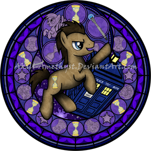 Stained Glass: Doctor Hooves -Vector-