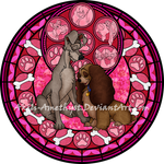Stained Glass: Lady and the Tramp -Vector-