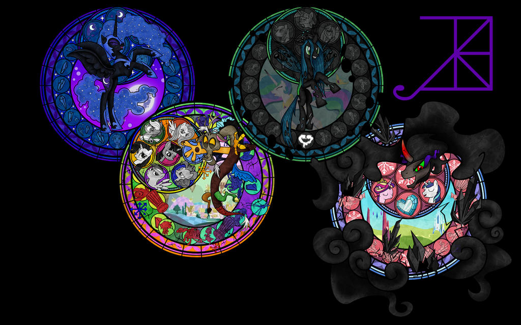 MLP Villains Wallpaper Feb 2013 by Akili-Amethyst