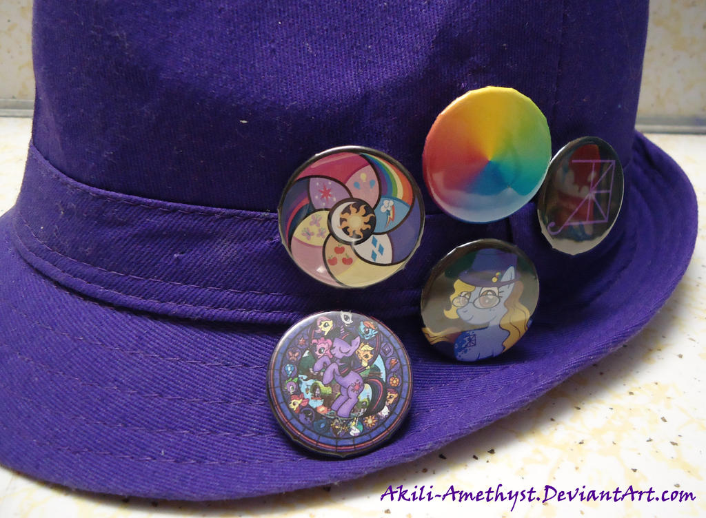 My New Hat Buttons by Akili-Amethyst