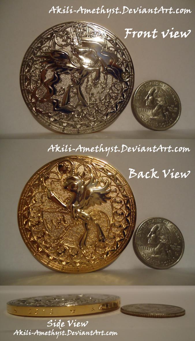 Celestia-Luna Coin Misprint by Akili-Amethyst