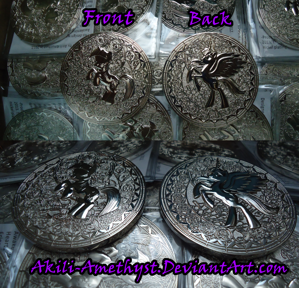 FiM-Fausticorn Coin -angles- by Akili-Amethyst