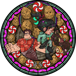 Stained Glass: Vanellope -Vector-