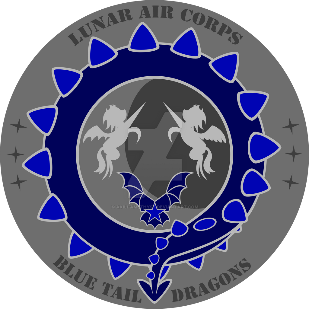 Commission: Lunar Pegasus Squadron Coin Design by Akili-Amethyst
