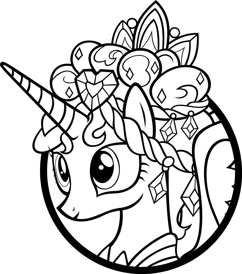My little pony coloring pages princess celestia in a dress -  Cadance Cameo Head Dress By Akili Amethyst