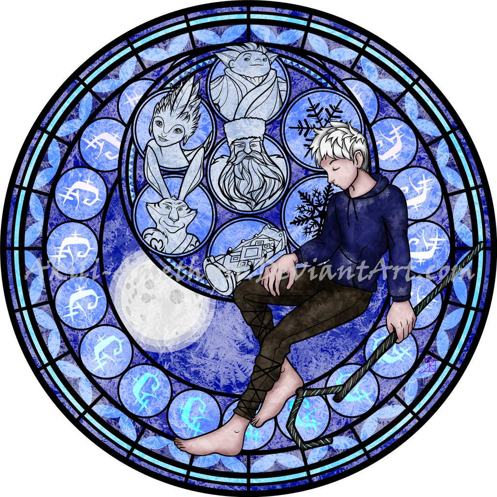 stained glass jack frost vector by akili amethyst on deviantart