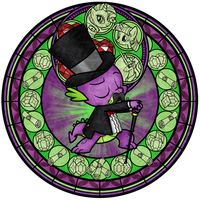Stained Glass: Spike's Mustache by Akili-Amethyst