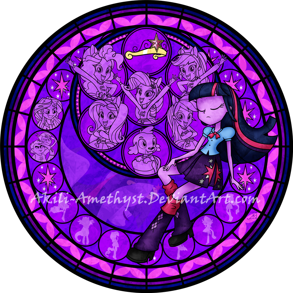 Stained Glass: Equestria Girls -Vector-
