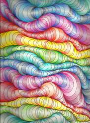 Rainbow Blobs by Akili-Amethyst