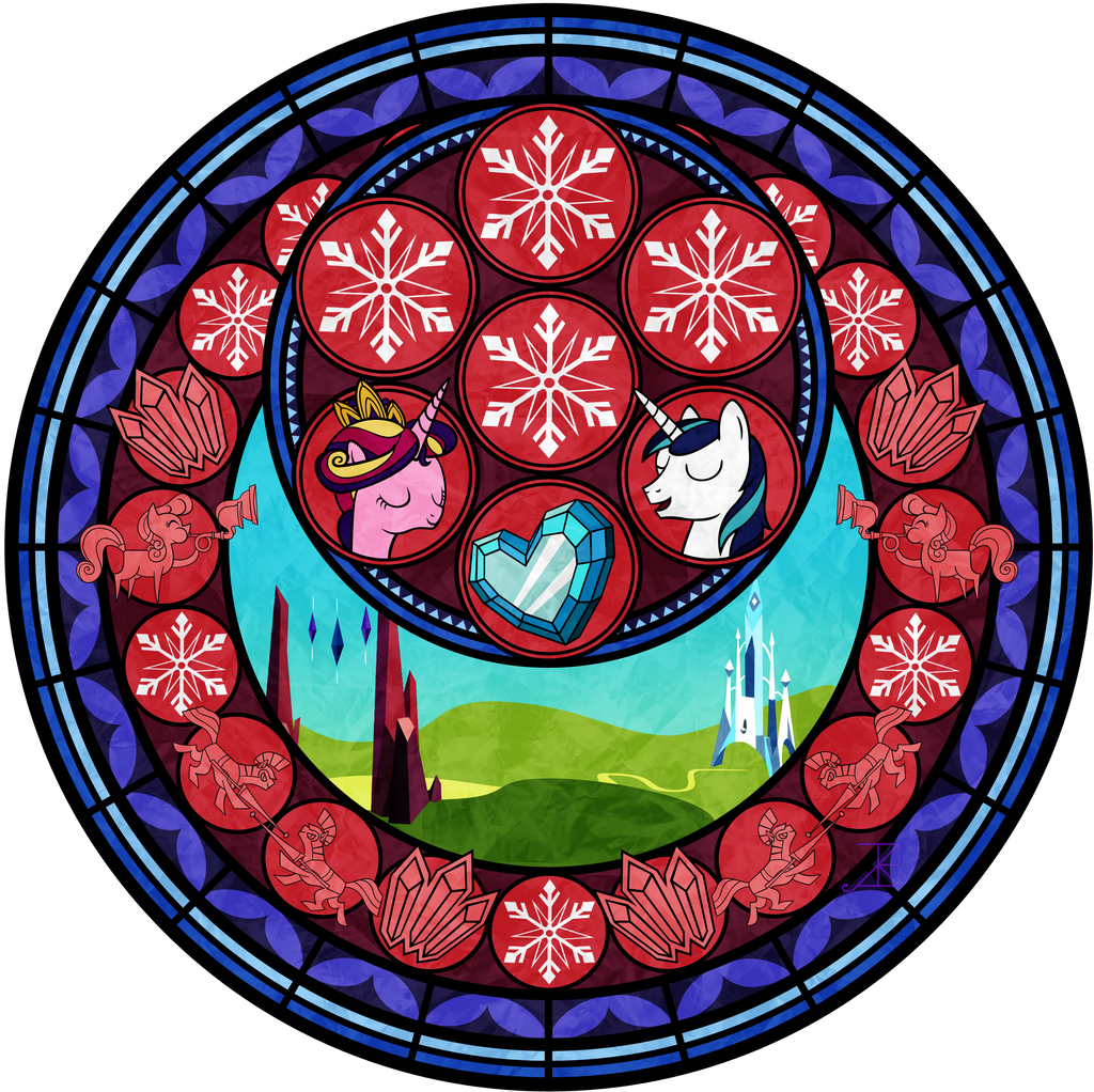 Crystal Empire Stained Glass Vector by Akili-Amethyst