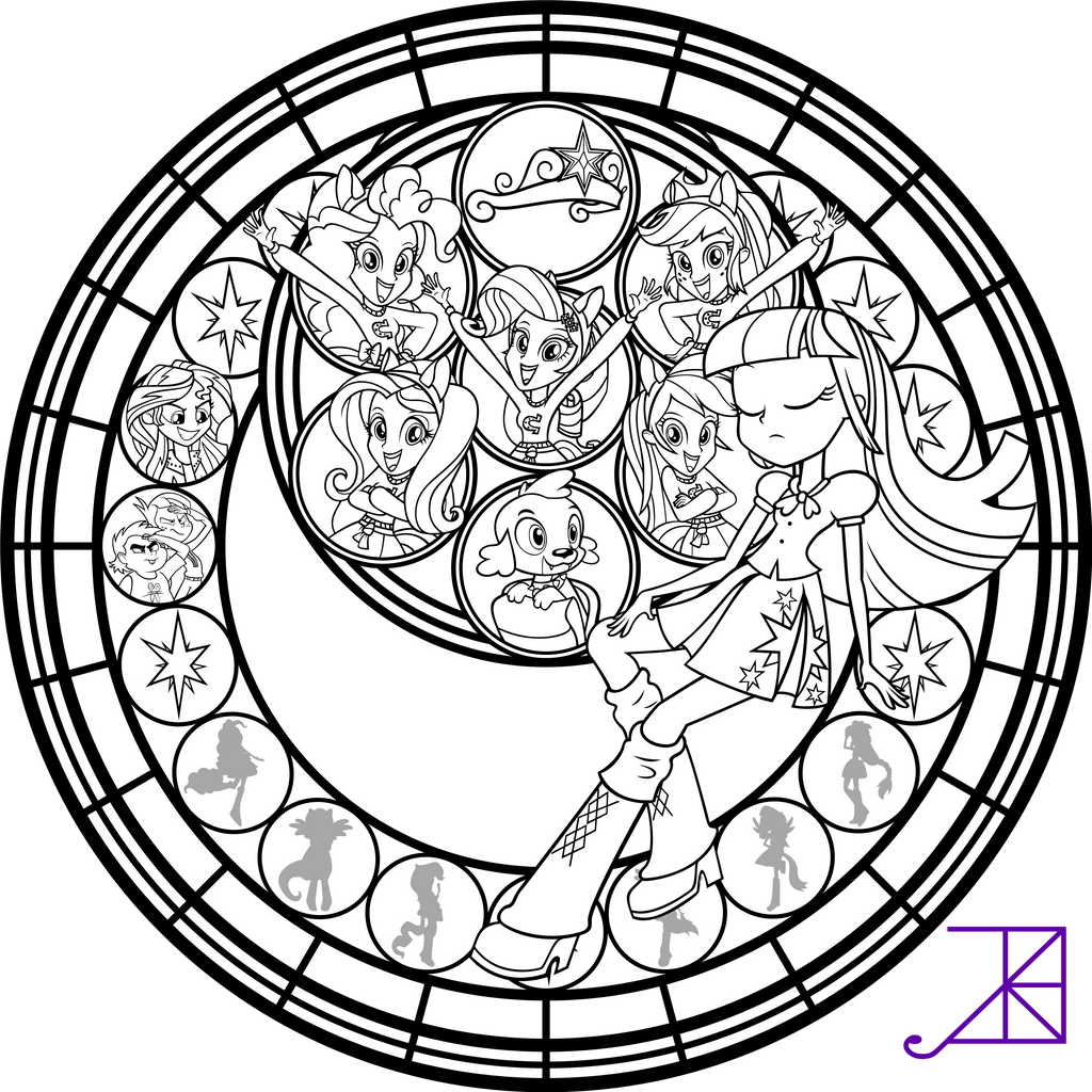 complex stained glass coloring pages - photo#6