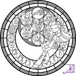 Equestria Girls Stained Glass Coloring Page