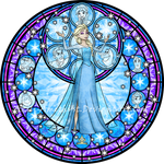 Stained Glass: Elsa -Vector-