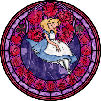 Stained Glass: Alice -Vector- by Akili-Amethyst