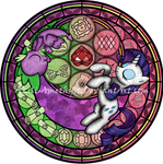 Comission: Stained Glass: Rarity - Spike