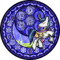 Stained Glass: Shining Armor -Vector- by Akili-Amethyst