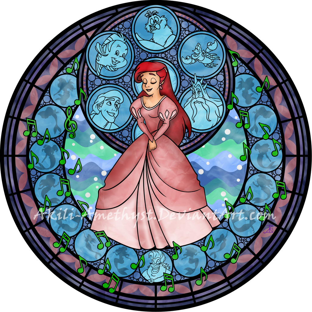 ariel stained glass remastered by akili amethyst on deviantart