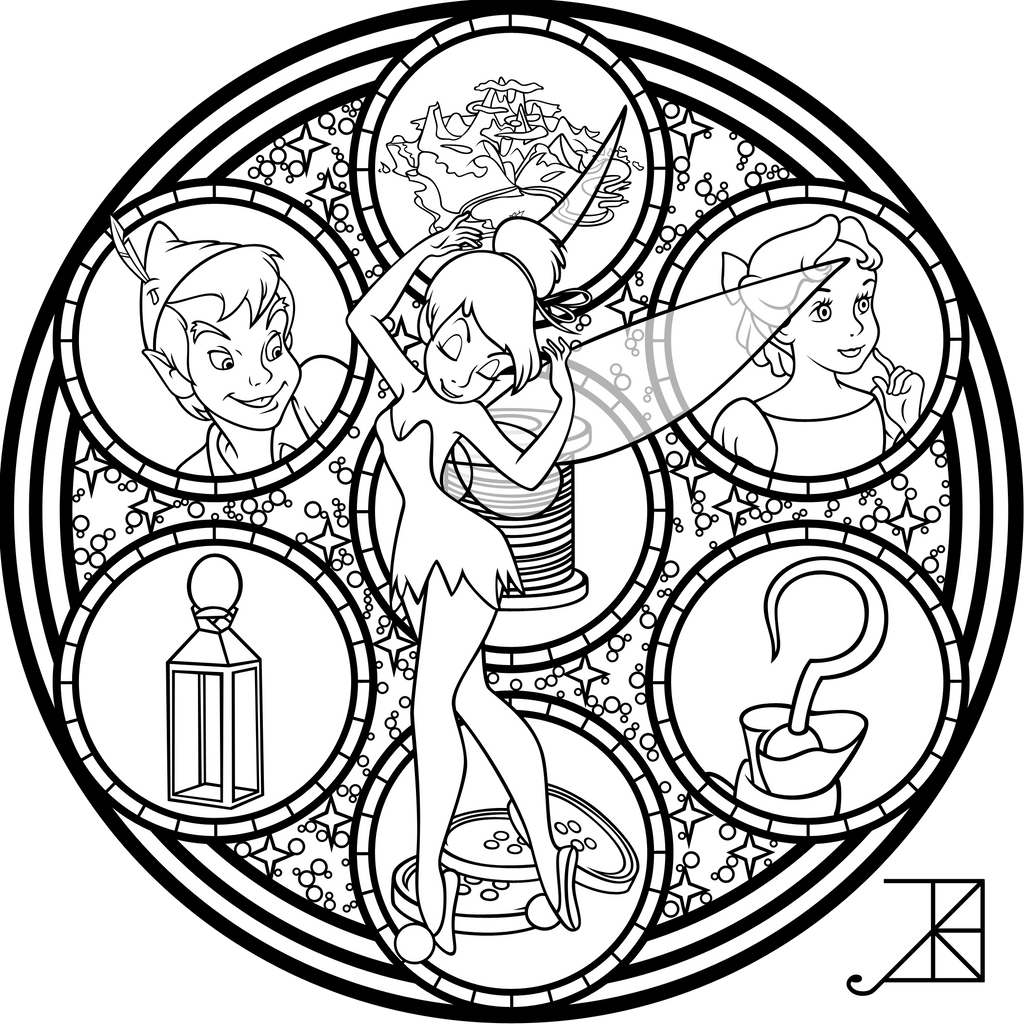 Cinderella Stained Glass Vector line art by Akili Amethyst on
