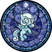 Stained Glass: Snowdrop by Akili-Amethyst