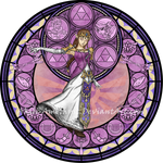 Commission: Stained Glass: Zelda