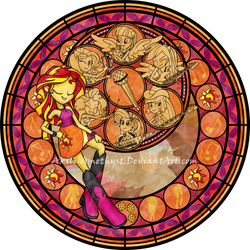 Stained Glass: Rainbow Rocks by Akili-Amethyst