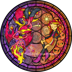 Stained Glass: Live This Down by Akili-Amethyst