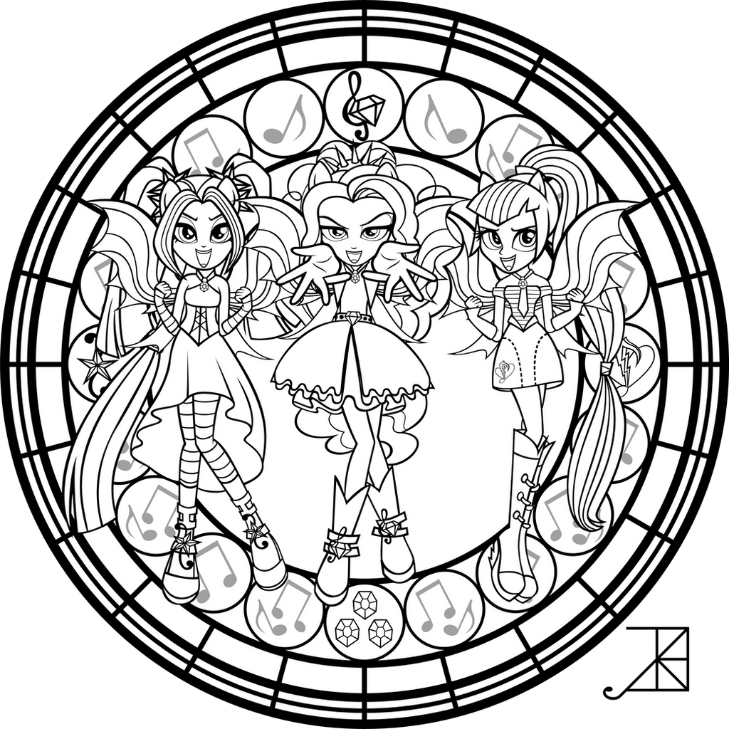 mlp adagio dazzle coloring pages - photo#24