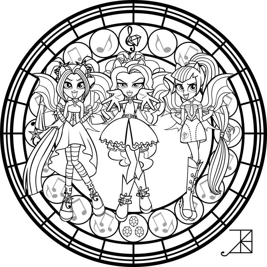 My Little Pony Sirens Coloring Pages : Sg dazzlings coloring page by akili amethyst on deviantart