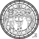 SG: Dazzlings: coloring Page