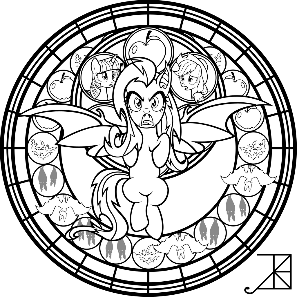Rainbow rocks dazzlings coloring pages - Sg Flutterbat Coloring Page By Akili Amethyst
