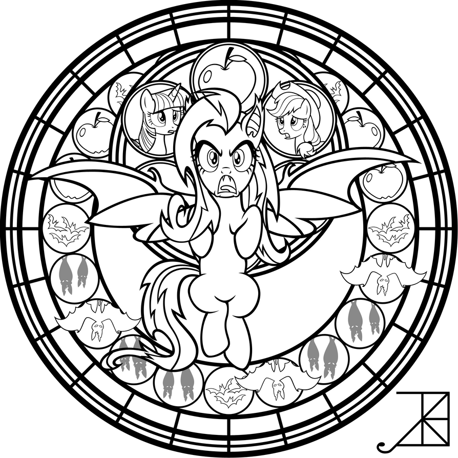 SG: Flutterbat: coloring page by Akili-Amethyst on DeviantArt