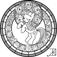 SG: FiM: Remastered: coloring page by Akili-Amethyst