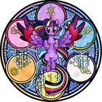 Stained Glass: Rainbow Friendship: Twilight