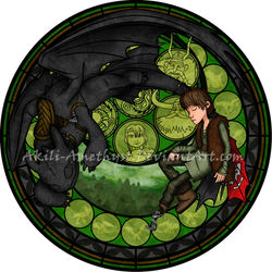 Stained Glass: Hiccup by Akili-Amethyst