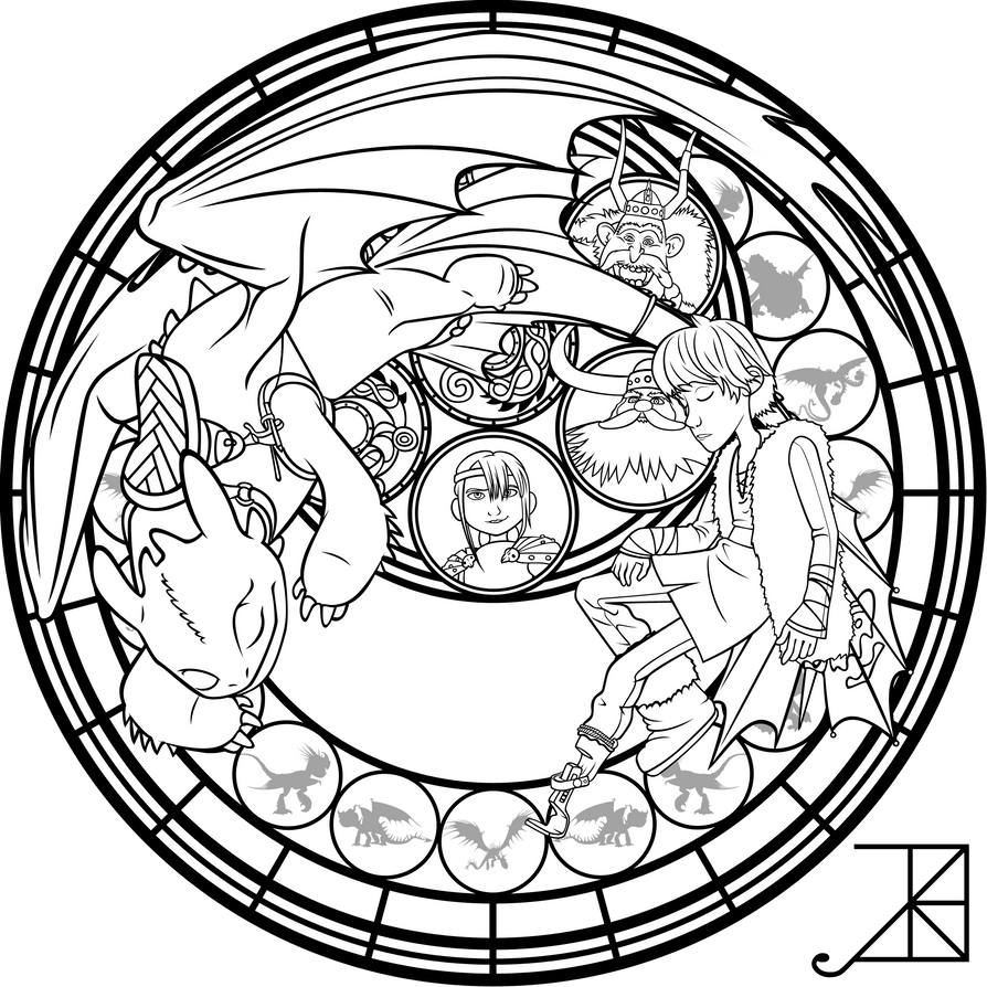 SG: Hiccup: coloring page by Akili-Amethyst