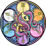 Stained Glass: Rainbow Friendship: Fluttershy