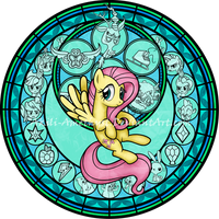 Commission: SG: KeepCalm and FlutterOn: Fluttershy by Akili-Amethyst
