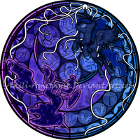 Stained Glass: Luna's Nightmare by Akili-Amethyst