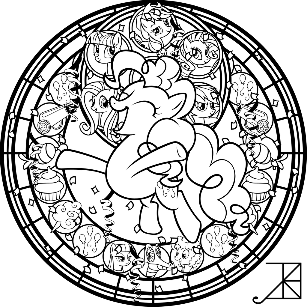 complex stained glass coloring pages - photo#18