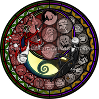 Stained Glass: Jack Skellington by Akili-Amethyst